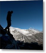 A Man Hikes The Boott Spur Link Metal Print