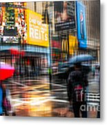 A Rainy Day In New York Metal Print by Hannes Cmarits