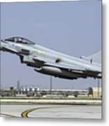 A Royal Air Forcetyphoon Fgr4 Taking Metal Print