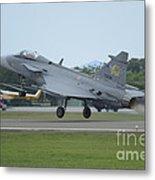 A Saab Jas 39 Gripen C Of The Royal Metal Print