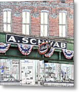 A Schwab Beale Street Memphis Metal Print