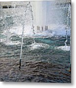 A World War Fountain Metal Print