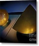 Abstract 3d Shapes  Metal Print