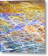 Abstract Background - Citylights At Night Metal Print