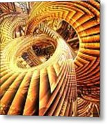 Abstract That Twisted Escher Fx  Metal Print