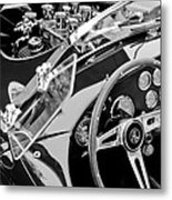 Ac Shelby Cobra Engine - Steering Wheel Metal Print