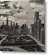 Aerial Chicago At Millennium Park Metal Print