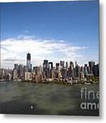 2-aerial View Of Manhattan Metal Print