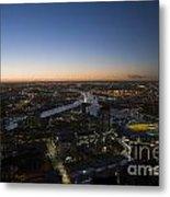 Aerial View Of Melbourne Metal Print