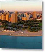 Aerial View Of North Avenue Beach Metal Print
