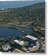 Aerial View Of The New Husky Stadium Metal Print