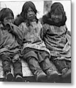 Alaska Eskimo Children Metal Print