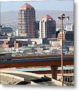 Albuquerque Skyline Metal Print