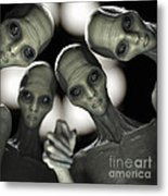 Alien Abduction Metal Print