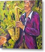 All That Jazz, Saxophone Metal Print