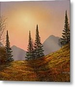 Alpine Sunset Metal Print