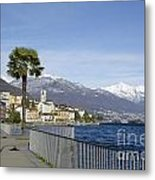 Alpine Village On The Lakefront Metal Print