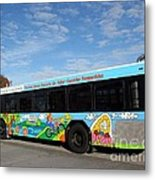 Ameren Missouri And Missouri Botanical Garden Metro Bus Metal Print