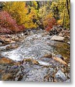 American Fork Canyon Creek In Autumn - Utah Metal Print