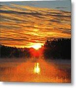American Lake Sunrise Metal Print