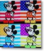 American Mickey Metal Print