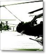 An Apache Ah64d Helicopter Metal Print