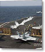 An Fa-18 Hornet Launches Metal Print