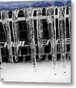 An Icy Challenger Metal Print