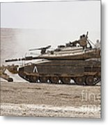 An Israel Defense Force Merkava Mark Iv Metal Print