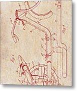 Antique Motorcycle Patent 1921 Metal Print