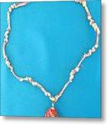 Aphrodite Genetyllis Necklace Metal Print by Augusta Stylianou