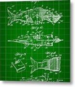 Artificial Bait Patent 1923 - Green Metal Print
