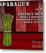 Asparagus Farm Metal Print