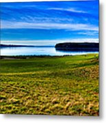 #2 At Chambers Bay Golf Course - Location Of The 2015 U.s. Open Tournament Metal Print by David Patterson