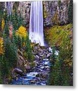 Autumn At Tumalo Falls Metal Print