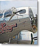 B17 Flying Fortress Metal Print