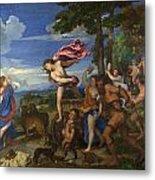 Bacchus And Ariadne Metal Print