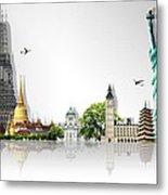 Background Travel Concept  Metal Print