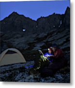Backpacking Alaska Chugach Mountains Metal Print
