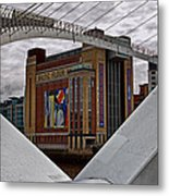 Baltic And Gateshead Millennium Bridge Metal Print