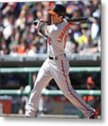Baltimore Orioles V. Detroit Tigers Metal Print