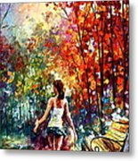 Barefooted Stroll Metal Print