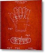 Baseball Glove Patent Drawing From 1922 Metal Print
