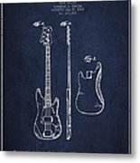 Bass Guitar Patent Drawing From 1960 Metal Print