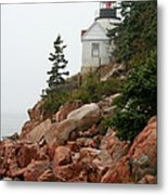 Bass Harbor Head Light Metal Print