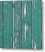 Battered Wooden Wall Metal Print
