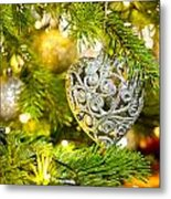 Bauble In A Christmas Tree  Metal Print