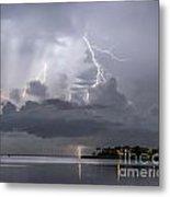 Bay Street Lightning Metal Print