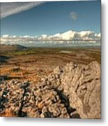 Beautiful Burren Landscape Metal Print