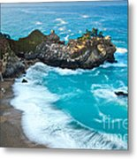 Beautiful Mcway Falls Along The Big Sur Coast. Metal Print